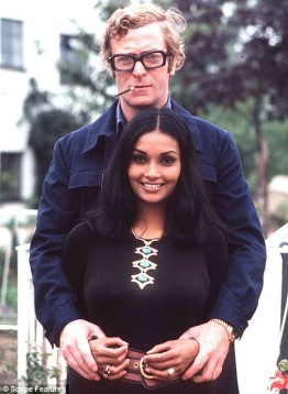 Young Michael Caine and Shakira Caine in 1973