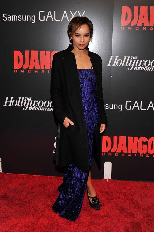 Zoe Kravitz Django unchained premiere 1
