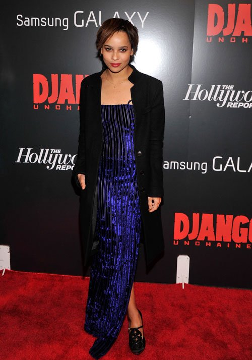 Zoe Kravitz Django unchained premiere 3