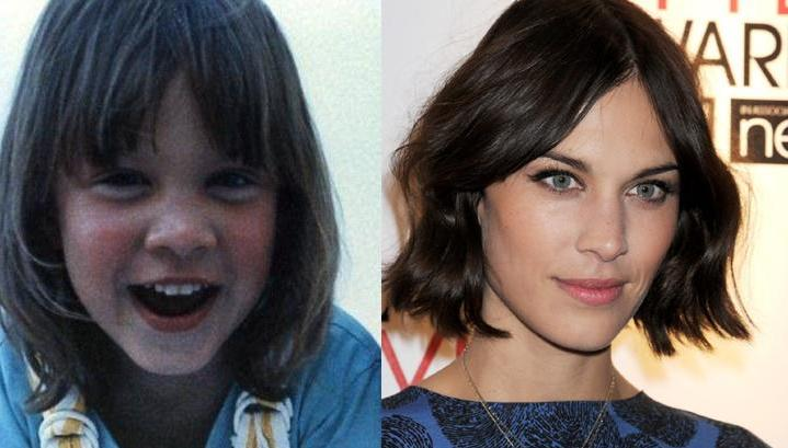 Alexa Chung as a child