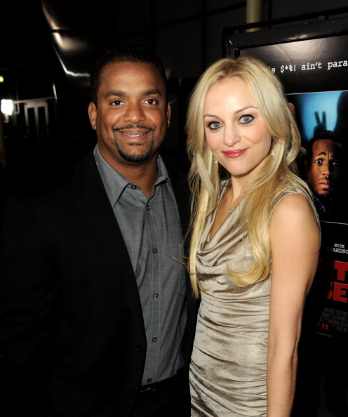 "Alfonso Ribeiro and wife Angela Unkrich at Premiere Of Open Road Films' ""A Haunted House"""