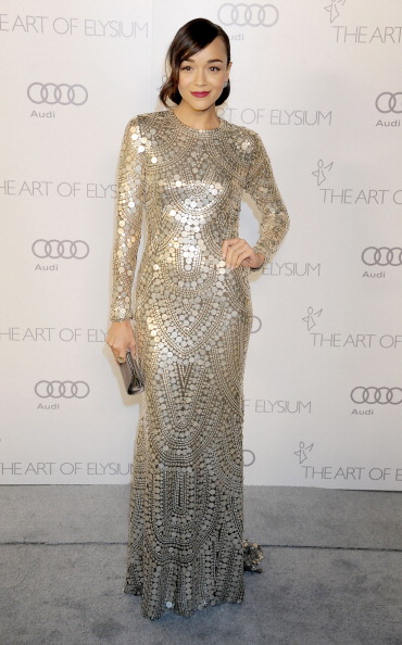 Ashley Madekwe arrives at The Art of Elysium's Heaven Gala 1