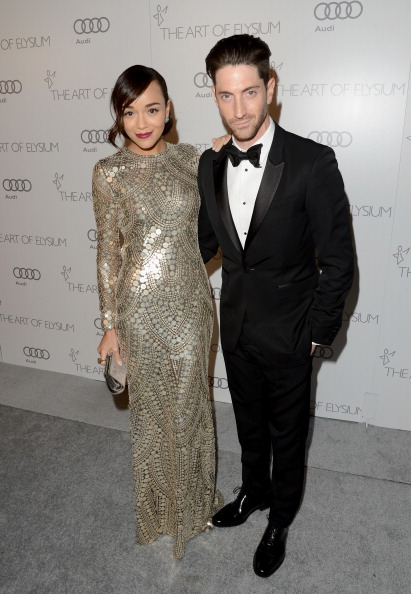 Ashley Madekwe and husband Iddo Goldberg at The Art of Elysium's Heaven Gala