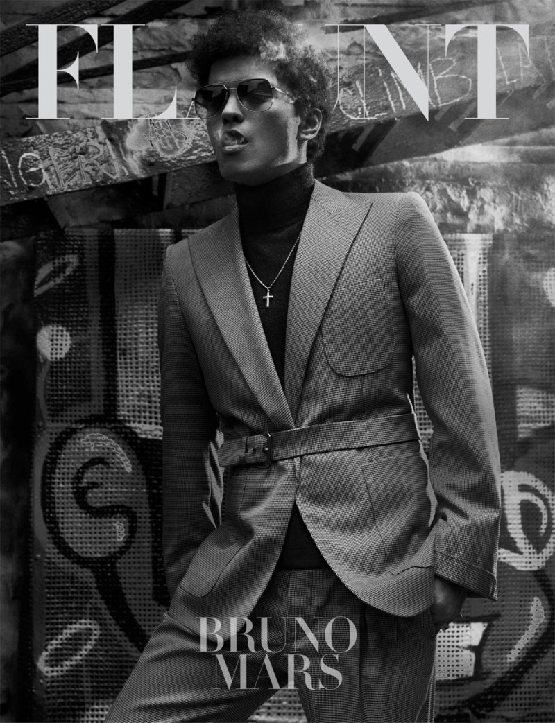 Bruno Mars and Ajak Deng for Flaunt Magazine 1