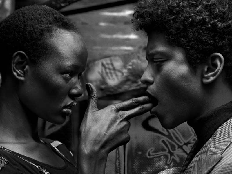 Bruno Mars and Ajak Deng for Flaunt Magazine 4