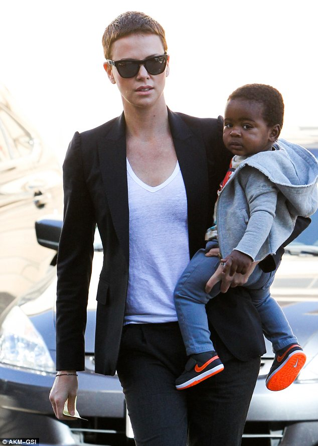 Charlize Theron and son Jackson 4