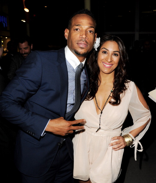 "Marlon Wayans and Liana Mendoza at the Premiere Of Open Road Films' ""A Haunted House"""