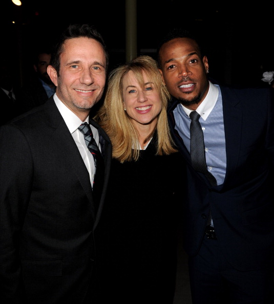 "Rick Alvarez, Lisa Blum and Marlon Wayans at Premiere Of Open Road Films' ""A Haunted House"""