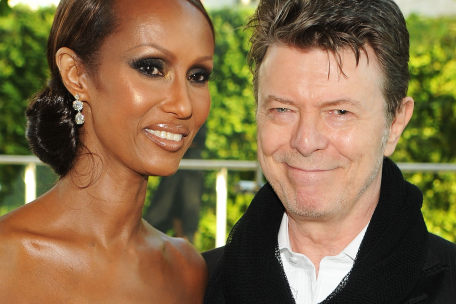 David Bowie and Iman 2