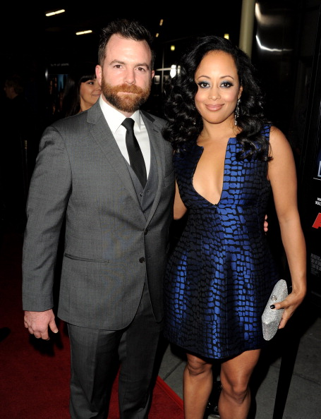 "Michael Tiddes and Essence Atkins at Premiere Of Open Road Films' ""A Haunted House"""