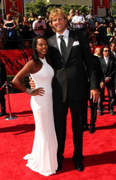 Dirk Nowitzki and Jessica Olsson at the 2011 ESPY Awards