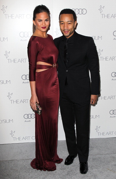 John Legend and Chrissy Teigent at The Art Of Elysium's 6th Annual Black-tie Gala 1