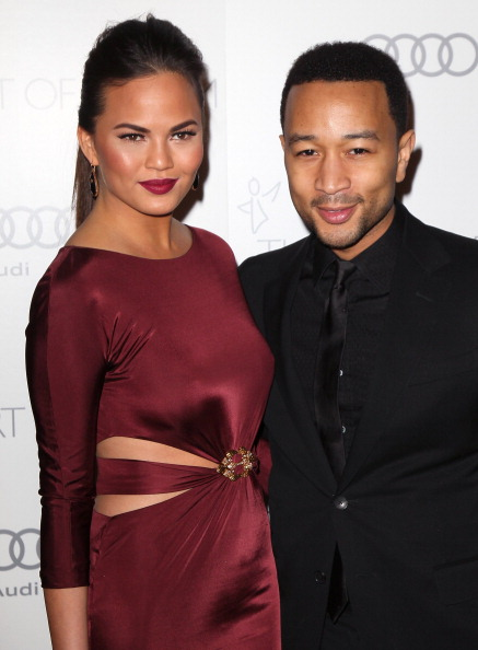 John Legend and Chrissy Teigent at The Art Of Elysium's 6th Annual Black-tie Gala 2