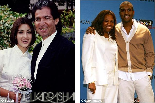 Kim and Kanye with parents