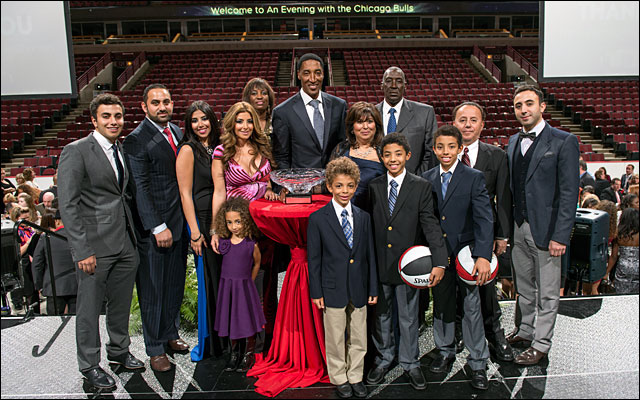 Scottie Pippen and family Annual Charity Dinner jan 2013