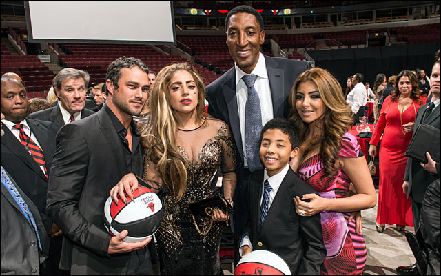 Scottie Pippen and family Annual Charity Dinner with lady gaga jan 2013 10
