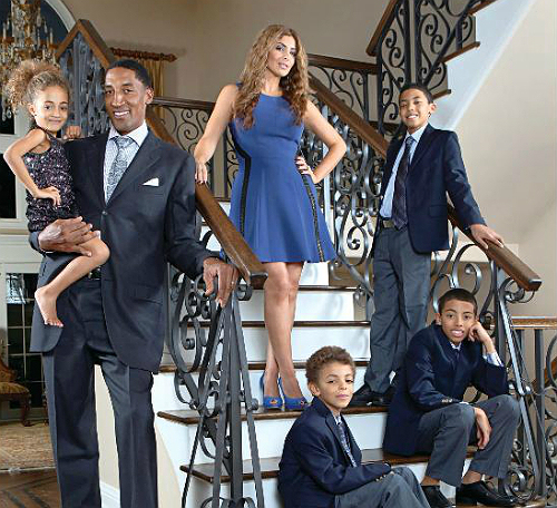 Scottie Pippen and family Jan 2013 3