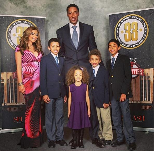 Scottie Pippen and family Jan 2013 4