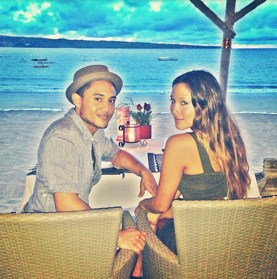 Tahj Mowry and Erica Ocampo Bali Jan 2013 1