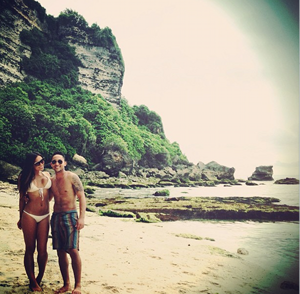 Tahj Mowry and Erica Ocampo Bali Jan 2013 2