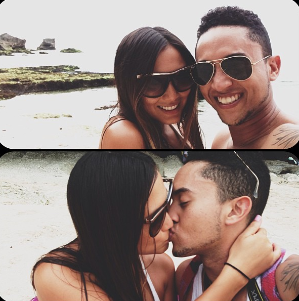 Tahj Mowry and Erica Ocampo Bali Jan 2013 3