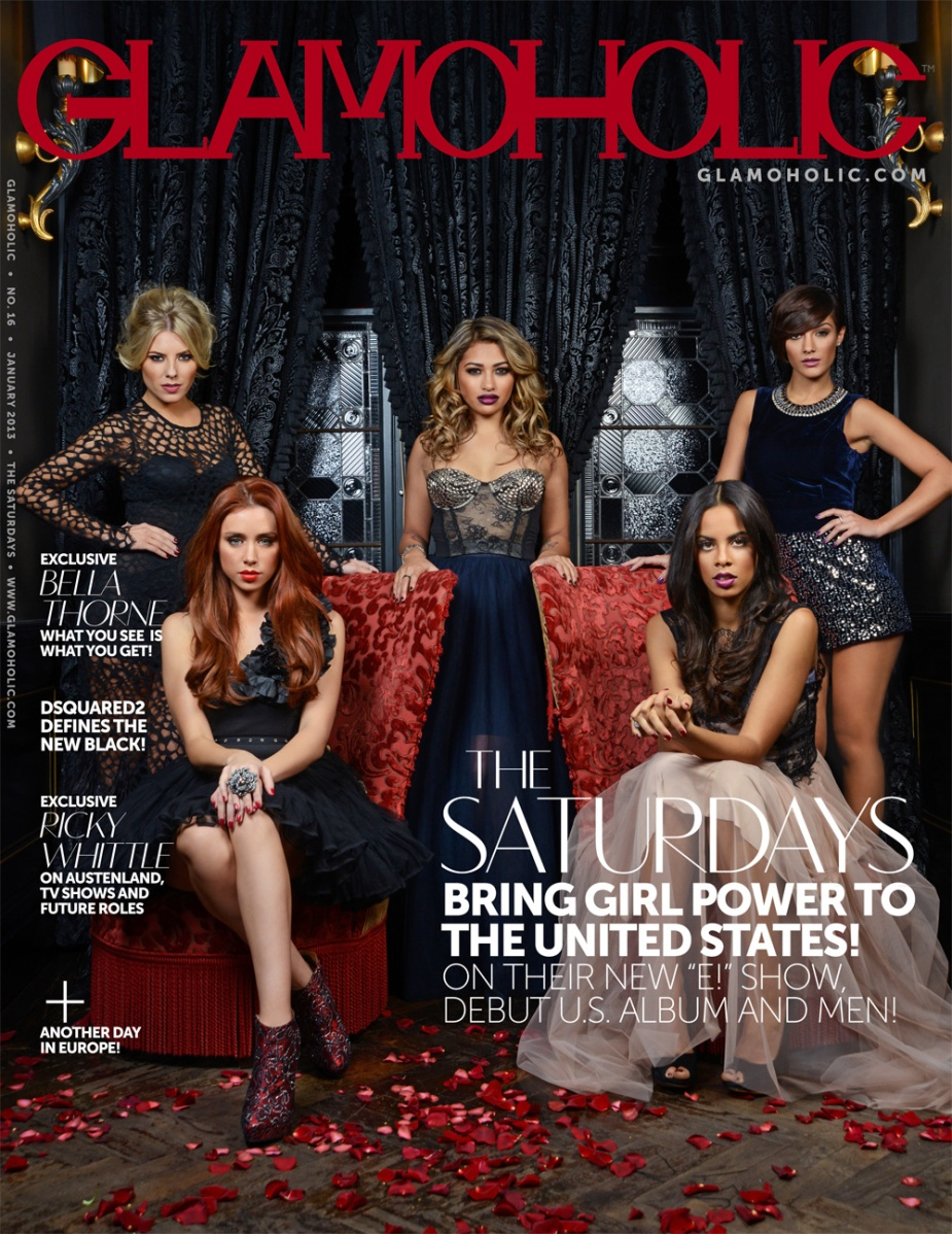 The Saturdays cover Glamoholic magazine