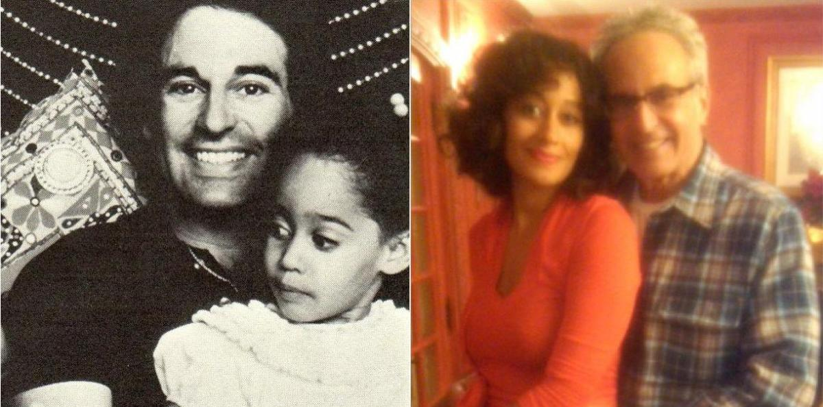 Tracee Ellis Ross as a baby with dad Robert Silberstein