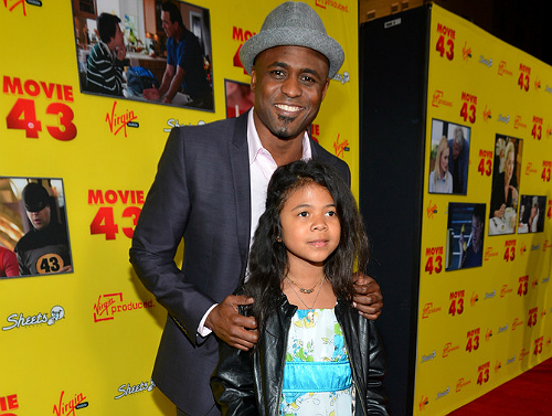 Wayne Brady and daughter Movie 43 premiere 1