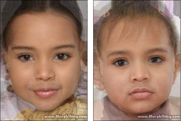 What KimYe baby would look like 1