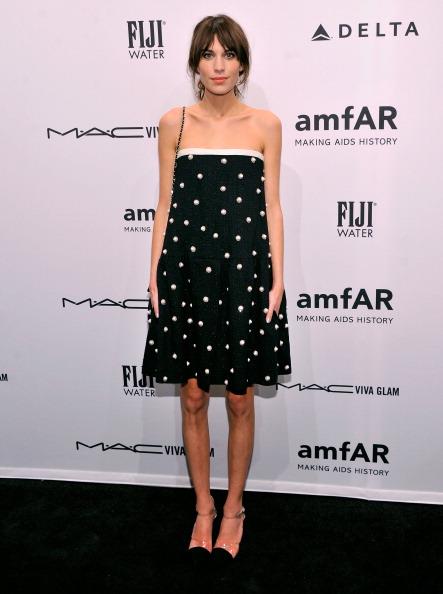 Alexa Chung at amfAR New York Gala 2013