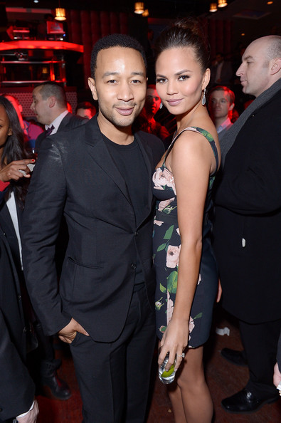 Chrissy Teigen and John Legend SI launch party