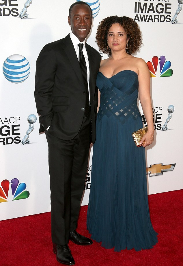 Don Cheadle and partner Bridgid Coulter at the 44th NAACP Image Awards