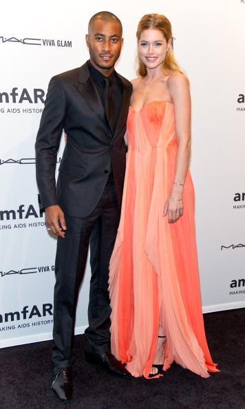 Doutzen Kroes and husband Sunnery James at amfAR New York Gala 2013