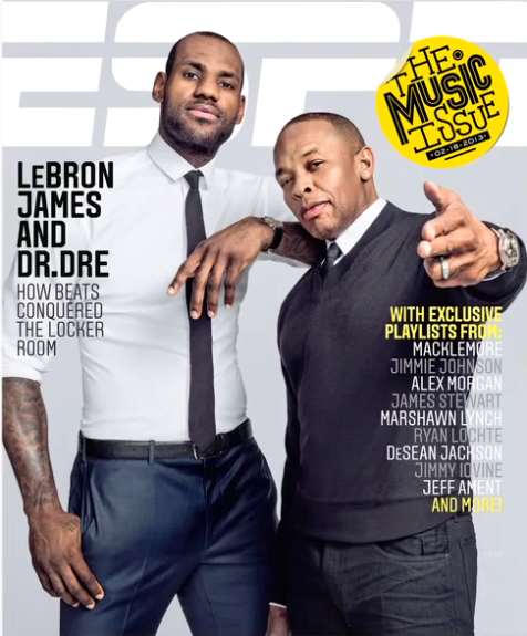 Dr. Dre and Lebron James for ESPN Magazine's Music Issue