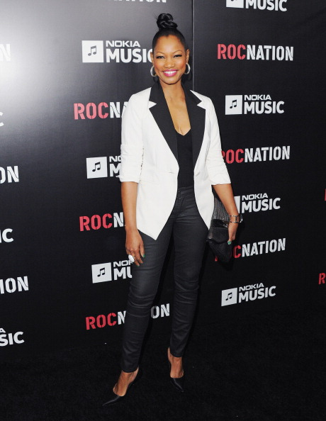 Garcelle Beauvais attends Roc Nation Hosts Annual Private Pre-GRAMMY Brunch
