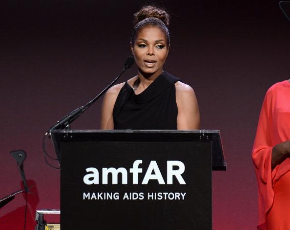 Janet Jackson at amfAR New York Gala 2013