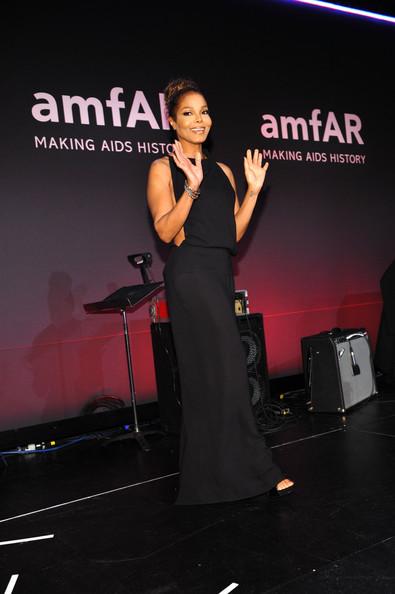 Janet Jackson at amfAR 2013