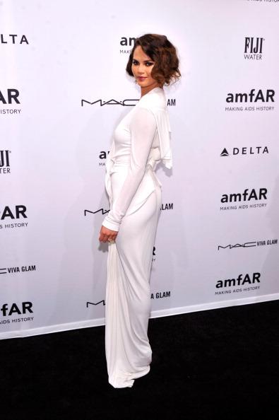 Chrissy Teigen at amfAR New York Gala 2013