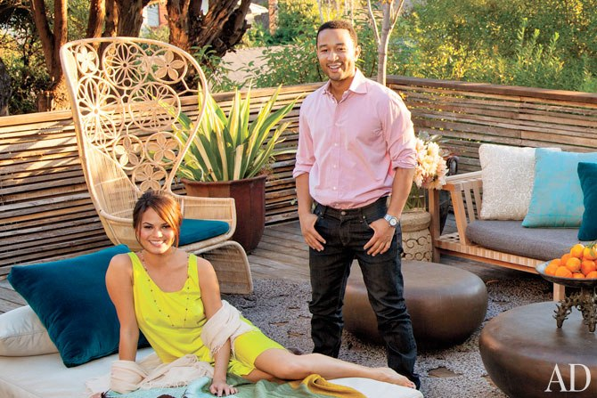 John Legend and Chrissy Teigen LA Home cover