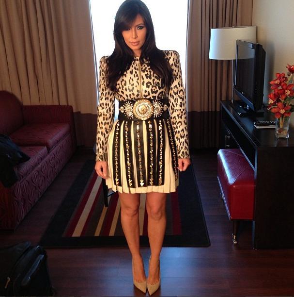 Kim Kardashian looks fit even while pregnant
