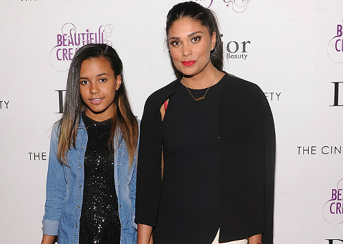 Rachel Roy and Ava at Beautiful Creatures screening 1