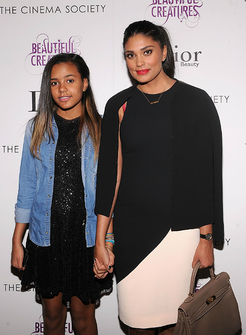 Rachel Roy and Ava at Beautiful Creatures screening 2