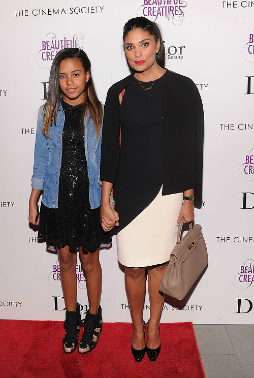 Rachel Roy and Ava at Beautiful Creatures screening 3