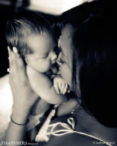 Tamera Mowry and son Aden 2