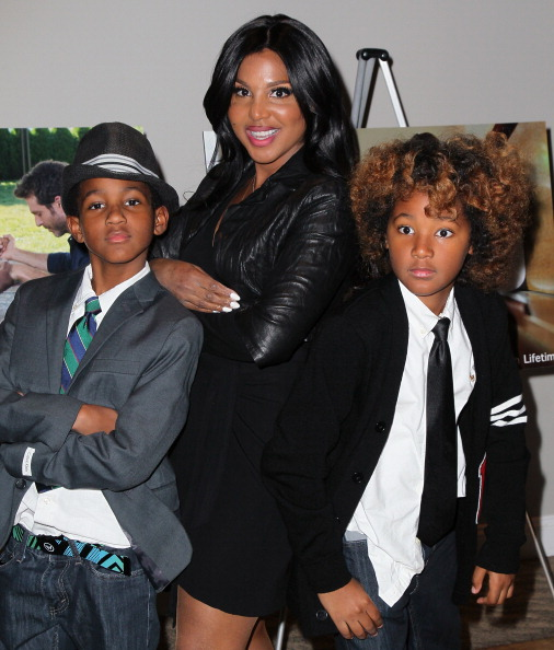 "Toni Braxton and sons Denim and Diesel at the ""Twist Of Faith"" Los Angeles Premiere 2"