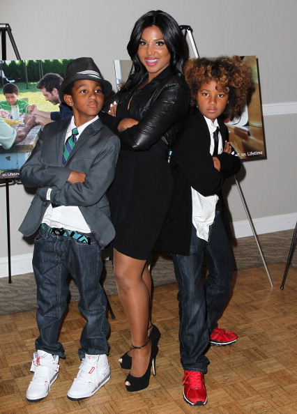 "Toni Braxton and sons Denim and Diesel at the ""Twist Of Faith"" Los Angeles premiere 3"