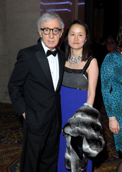 Woody Allen and wife Soon Yi Previn at amfAR New York Gala 2013