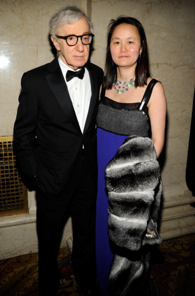 Woody Allen and Soon Yi Previn at amfAR New York Gala 2013
